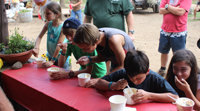picture of children eating ice cream on the jeep jamboree